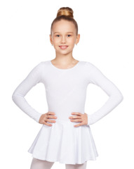 Купальник гимнаст эласт бел 110-160