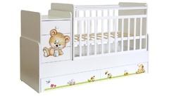 Кровать дет Фея 1100 Медвежонок белый