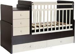 Кровать дет Фея 1100 венге-бежевый 1033