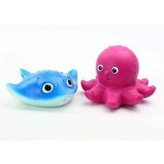Набор для купания 3 (2 игрушки Осьминог, Скат)