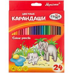 Цветные карандаши 24цв Мультики Гамма