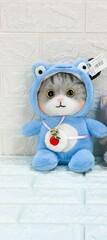 Мягк кошка с сумочкой 25 см