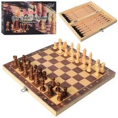 Шахмат шашки нарды 7702 дерев 3в1