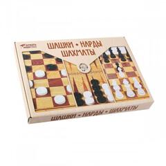 Шахматы шашки нарды 03872 большие